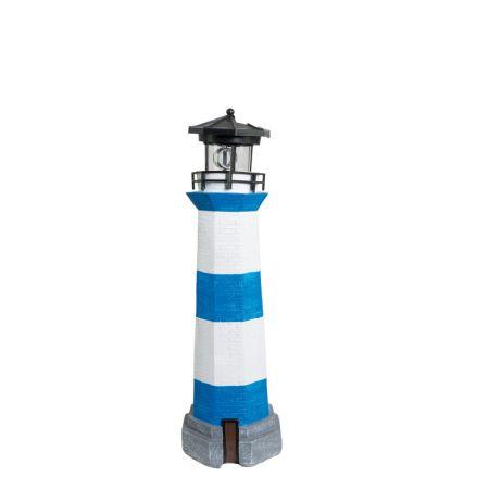 Διακοσμητικός φάρος με φωτισμό LED Μπλε - Λευκό 42cm