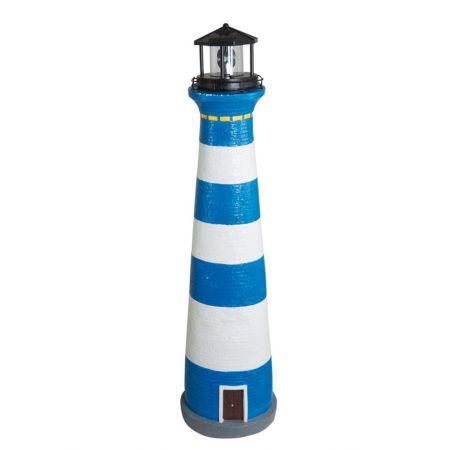 Διακοσμητικός φάρος με φωτισμό LED Μπλε - Λευκό 75cm