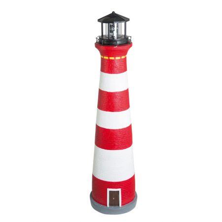 Διακοσμητικός φάρος με φωτισμό LED Κόκκινο - Λευκό 75cm
