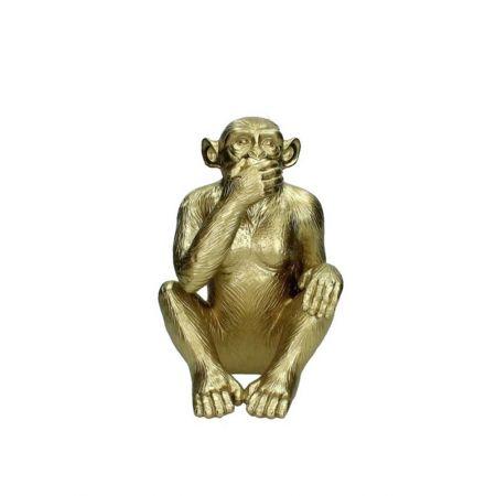 Διακοσμητική φιγούρα Πίθηκου Χρυσή 16,2x17,4x24,6cm