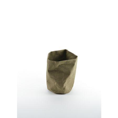Χάρτινη γλάστρα αδιάβροχη Μπεζ 22x16cm