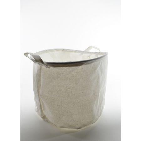 Υφασμάτινο καλάθι - γλάστρα Μπεζ 29x36cm