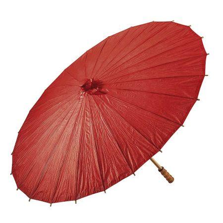 Διακοσμητική ομπρέλα χάρτινη Κόκκινη 86cm