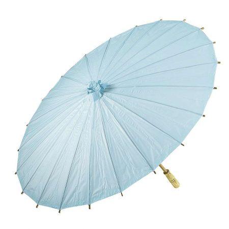Διακοσμητική ομπρέλα χάρτινη Γαλάζια 86cm