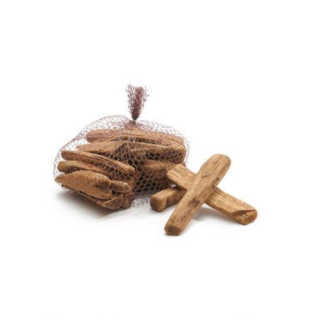 Σετ 500gr Διακοσμητικά κομμάτια ξύλου Φυσικό 10cm