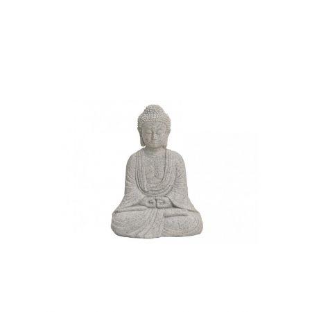 Διακοσμητικό αγαλματίδιο Βούδας , Γκρι 13cm