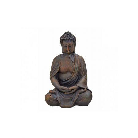 Διακοσμητικό αγαλματίδιο Βούδας , Καφέ 38cm