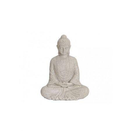 Διακοσμητικό αγαλματίδιο Βούδας , Μπεζ 19cm