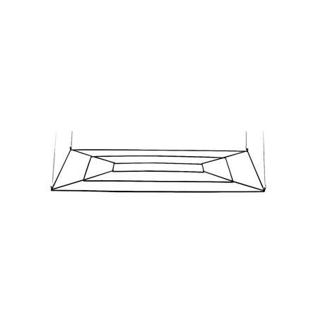 Διακοσμητικό Mεταλλικό Σταντ Οροφής Ορθογώνιο 120x80cm