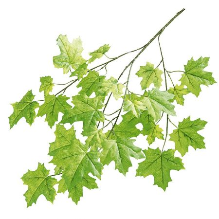Διακοσμητικό κλαδί με φύλλα σφένδαμου 65cm