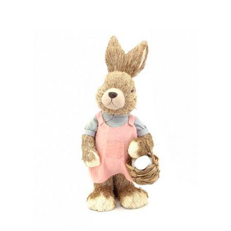Κουνελάκι Πασχαλινό - Κοριτσάκι με καλαθάκι 44cm