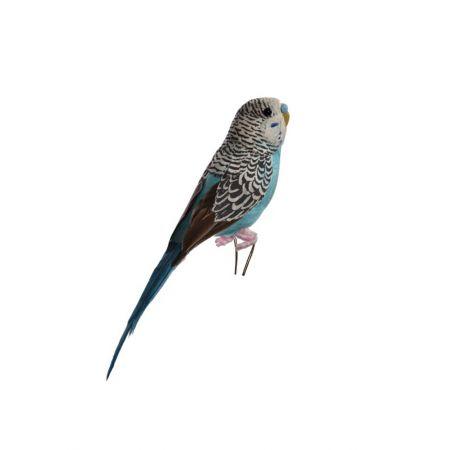 Διακοσμητικό παπαγαλάκι Parakeet Μπλέ 20cm