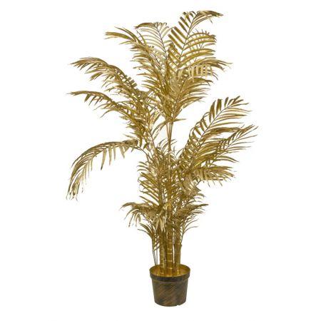 Τεχνητό δέντρο Φοίνικας Areca σε γλάστρα Χρυσό 135cm