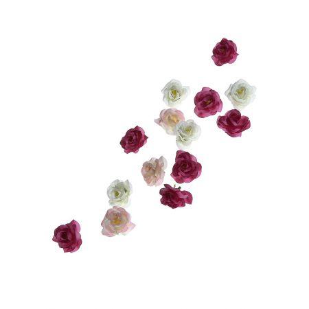 Σετ 50τχ διακοσμητικά τριαντάφυλλα, 4cm