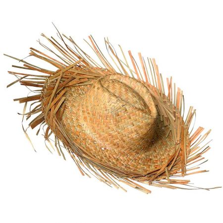 Διακοσμητικό ψάθινο καπέλο Φυσικό 40cm