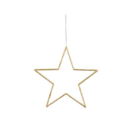 Διακοσμητικό κρεμαστό αστέρι PVC χρυσό 32cm