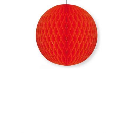Χάρτινη μπάλα κυψελωτή Κόκκινη 40cm