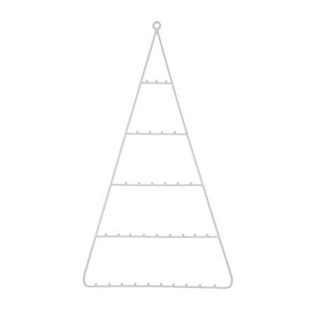 Κρεμαστό μεταλλικό Χριστουγεννιάτικο δέντρο Λευκό 50x90cm
