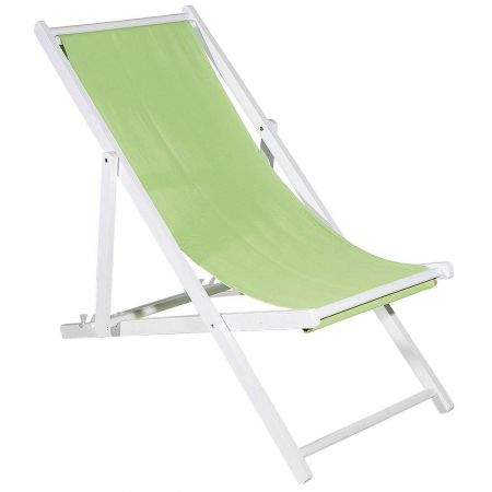 Διακοσμητική καρέκλα παραλίας για βιτρίνα Πράσινο ανοιχτό 110x56x70cm