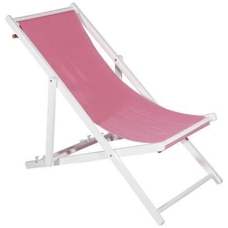 Διακοσμητική καρέκλα παραλίας για βιτρίνα Ροζ 110x56x70cm