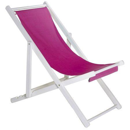 Διακοσμητική καρέκλα παραλίας για βιτρίνα Φούξια 110x56x70cm