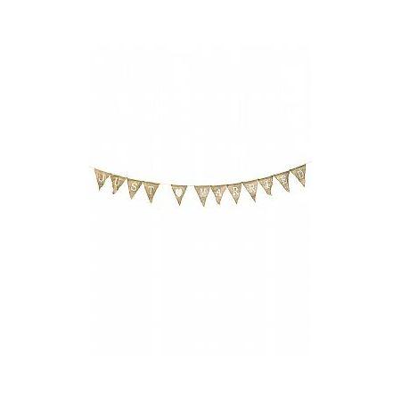 Διακοσμητική γιρλάντα λινάτσας JUST MARRIED 270cm