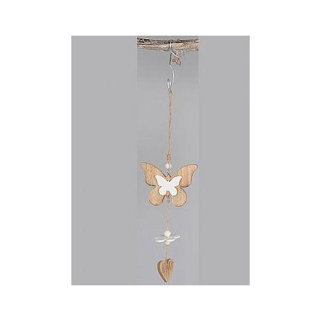 Διακοσμητικό κρεμαστό στολίδι Πεταλούδα-Καρδιά 35cm