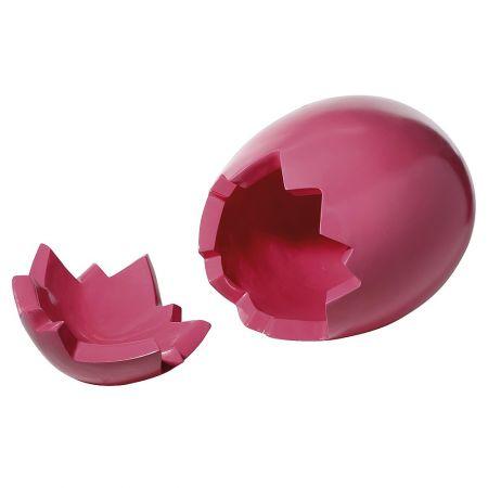 XXL πασχαλινό αυγό σπασμένο (2 τμήματα) Ροζ 70cm (Ύψος)