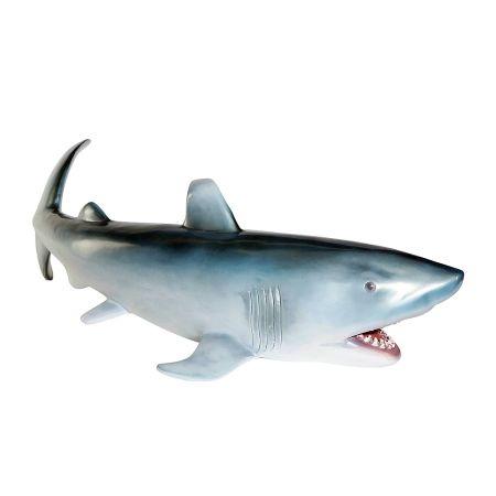 Διακοσμητικός καρχαρίας Γκρι - Ασημί 135x60x40cm