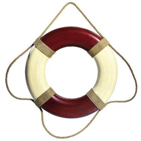 Διακοσμητικό σωσίβιο Κόκκινο σκούρο - Λευκό 45cm