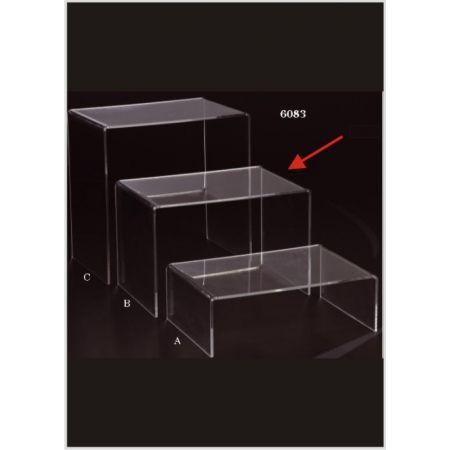 Τραπεζάκι Bιτρίνας Plexiglass Π 40x60x40cm
