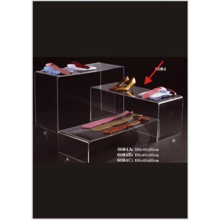 Τραπεζάκι Βιτρίνας-Π Plexiglass 40x40x100cm