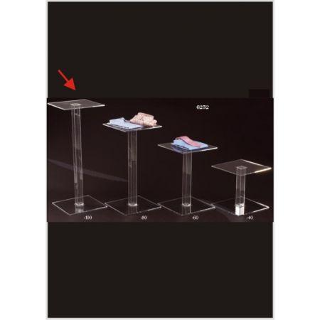 Τραπεζάκι Βιτρίνας με Βάση Plexiglass 40x40x100cm