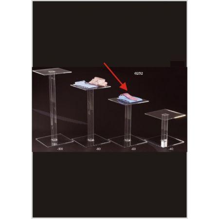 Τραπεζάκι Βιτρίνας με Βάση Plexiglass 40x40x60cm