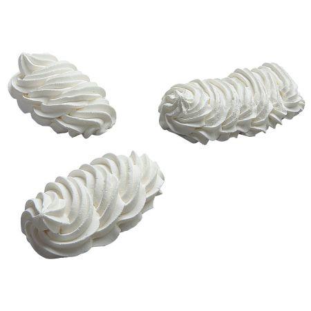 HQ Σετ 3τχ Διακοσμητικοί Λευκοί μπεζέδες απομίμηση 5x9cm