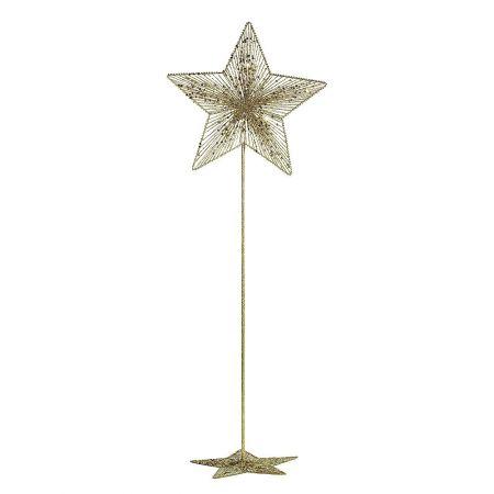 Χριστουγεννιάτικο μεταλλικό αστέρι με σταντ Χρυσό 140cm