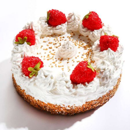 HQ Διακοσμητική τούρτα με φράουλες απομίμηση 20cm