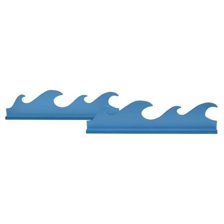 Σετ 2τχ Διακοσμητικό κύμα θάλασσας 12x48x5cm