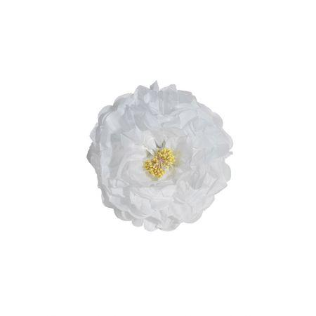 Διακοσμητικό χάρτινο λουλούδι λευκό , 30cm