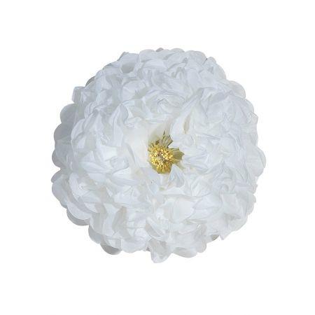 Διακοσμητικό χάρτινο λουλούδι λευκό , 50 cm