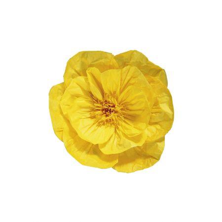 XL Διακοσμητικό άνθος Κίτρινο 30cm
