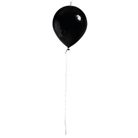 Διακοσμητικό πλαστικό μπαλόνι Μαύρο 28cm