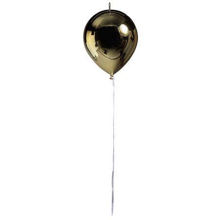 Διακοσμητικό πλαστικό μπαλόνι χρυσό μεταλλικό, 28cm