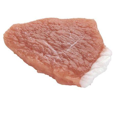 HQ Διακοσμητικό ωμό κομμάτι κρέας από χοιρινό λαιμό απομίμηση 11x12 cm