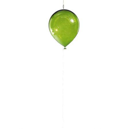 Διακοσμητικό πλαστικό διάφανο μπαλόνι Πράσινο 20cm