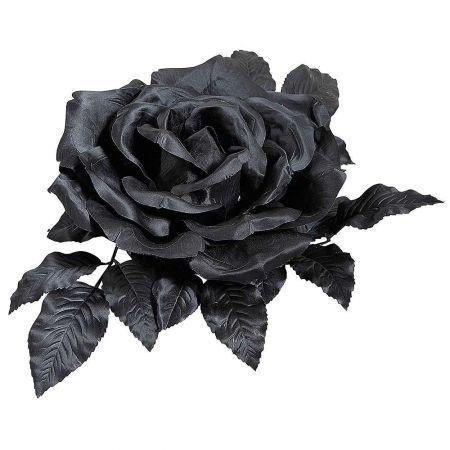 Τεχνητό άνθος τριαντάφυλλου Μαύρο 37cm
