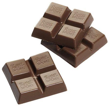HQ Σετ 3τχ διακοσμητικά κομμάτια σοκολάτας γάλακτος 4,5x4,5cm