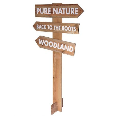 Διακοσμητική ξύλινη ταμπέλα - πινακίδα Φύσης 160x80cm