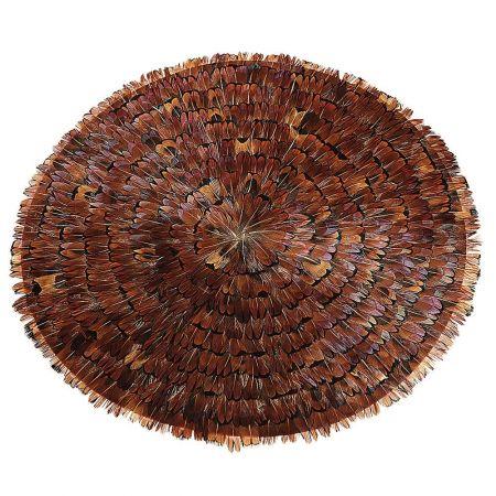Διακοσμητικό τοίχου με φτερά Καφέ - Κόκκινο 30cm