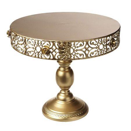 Μεταλλική βάση για τούρτα Χρυσή 30x33cm
